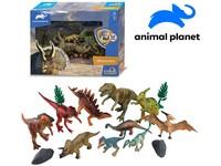07535 - Zvířátka dinosauři, 15 ks, mobilní aplikace pro zobrazení zvířátek, 20,4 cm