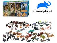 07537 - Zvířátka - safari, farma, dinosauři, mořská, mobilní aplikace pro zobrazení zvířátek, 60 ks, 20,4 cm