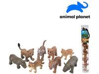 07544 - Zvířátka v tubě - safari,  mobilní aplikace pro zobrazení zvířátek, 5 - 7 cm, 8 ks