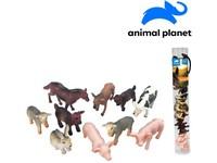 07550 - Zvířátka v tubě - farma,  5 - 8 cm, mobilní aplikace pro zobrazení zvířátek, 10 ks