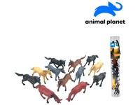 07551 - Zvířátka v tubě - koně, 6 - 8 cm, mobilní aplikace pro zobrazení zvířátek, 12 ks
