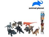 07552 - Zvířátka v tubě - dinosauři, 6 - 11 cm, mobilní aplikace pro zobrazení zvířátek, 8 ks