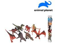 07553 - Zvířátka v tubě  -dinosauři, 7 - 11 cm, mobilní aplikace pro zobrazení zvířátek, 8 ks