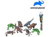07554 - Zvířátka v tubě - říční, 8 - 12 cm, mobilní aplikace pro zobrazení zvířátek, 8 ks