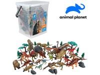 07560 - Zvířátka v kbelíku - dinosaurus,  45 pcs, mobilní aplikace pro zobrazení zvířátek, 29,7 cm