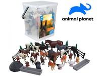 07561 - Zvířátka v kbelíku - farma,  45 pcs, mobilní aplikace pro zobrazení zvířátek, 18 cm
