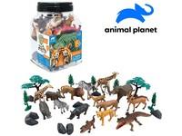 07562 - Zvířátka v dóze - safari, 30 ks, mobilní aplikace pro zobrazení zvířátek, 19,5 cm