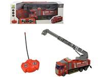 07636 - Auto hasičské, na dálkové ovládání 4-kanál se  světlem a zvukem, 18 cm