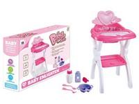 07642 - Židlička pro panenky,  s přílušenstvím, 31x44cm