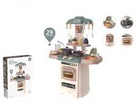 07667 - Kuchyň s příslušenstvím, 29 ks, na baterie, se světlem a zvukem, 65x45x21cm