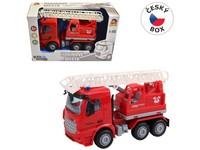 08121 - Auto hasičské s plošinou na setrvačník, 16 cm