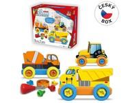 08304 - Malý mechanik plastový Junior - stavební auta