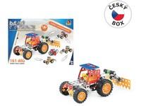 08337 - Malý mechanik - traktor s příslušenstvím 4 v 1, 161 ks, 24 x 34 x 4 cm