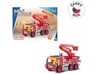 08340 - Malý mechanik -  hasičské auto s plošinou, 327 ks
