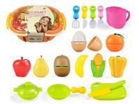 08400 - Nákupní košík s ovocem a doplňky