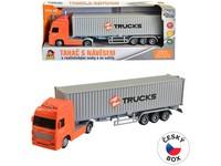08430 - Kamion s kontejnerem na setrvačník, 8 x 33 x 5 cm