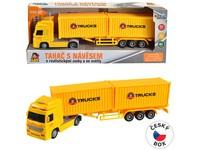 08432 - Kamion se dvěma  kontejnery na setrvačník, 8 x 33 x 5 cm