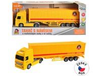 08433 - Kamion s kontejnerem na setrvačník, 33 x 5 x 8 cm