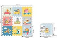 08788 - Puzzle s dopravními prosředky a zvířátky, 9 ks