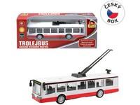 09026 - Trolejbus kovový na zpětný chod, 16cm