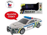10710 - Policejní auto  na setrvačník, 17 cm, světlo, zvuk (čeština), na baterie