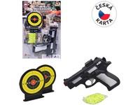 10717 - Pistole na kuličky se dvěma terči, 15 cm