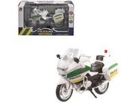 10842 - Motorka policejní kovová, 12 cm
