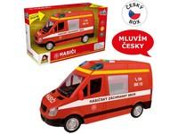 10857 - Auto hašičská dodávka, na setrvačník s reálným hlasem posádky, 21cm