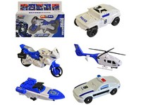 11807 - Transformer robot-policie 5 druhů, 20x15x5cm